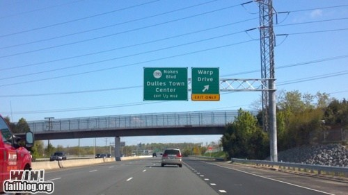 geeky,g rated,highway,road name,warp drive,win