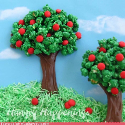 caramel chocolate epicute green Popcorn trees - 6120798976