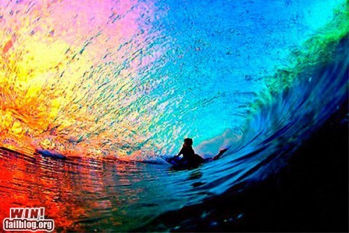 photography pretty colors rainbow surfing wave - 6120834816