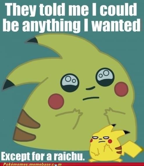 ash meme Memes pikachu raichu thunder stone - 6120852480