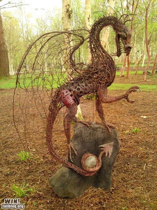 dragon Hall of Fame metal nerdgasm scrap sculpture