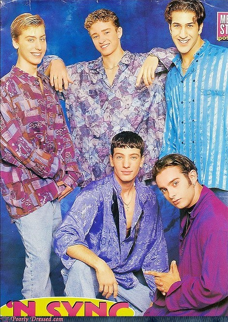90s g rated Justin Timberlake n sync pattern poorly dressed retro