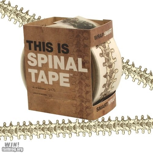 office swag packing tape pun spinal tap tape