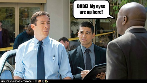 awake dude eyes inappropriate Jason Isaacs looking Staring Wilmer Valderrama - 6121149952