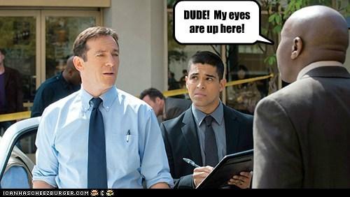 awake dude eyes inappropriate Jason Isaacs looking Staring Wilmer Valderrama - 6121149952