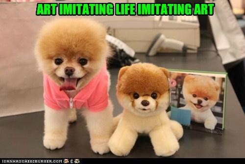 art dogs pomeranian stuffed animal - 6121263104