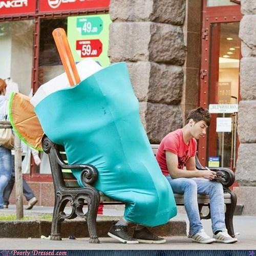 bench cocktail costume milkshake waiting - 6121298688