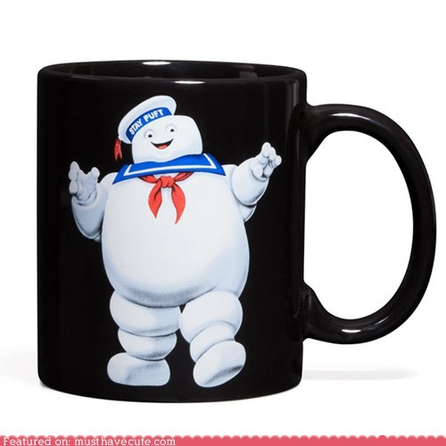 ceramic,Ghostbusters,monster,mug,print,stay puft marshmallow man