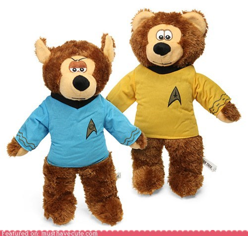 bears Plush shirts Star Trek stuffed animal Vulcan