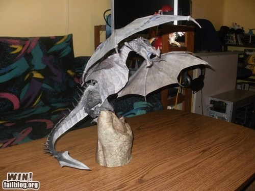 dragon model nerdgasm papercraft Skyrim - 6121462016