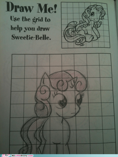 art,artbook,awesome,drawing,gen 3,grid,IRL,Sweetie Belle