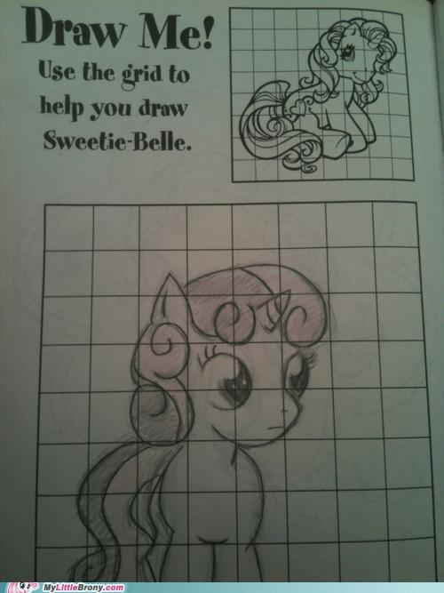 art artbook awesome drawing gen 3 grid IRL Sweetie Belle - 6121645312