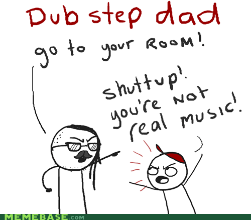 dad,dubstep,Music,skrillex,stepdad,weird kid