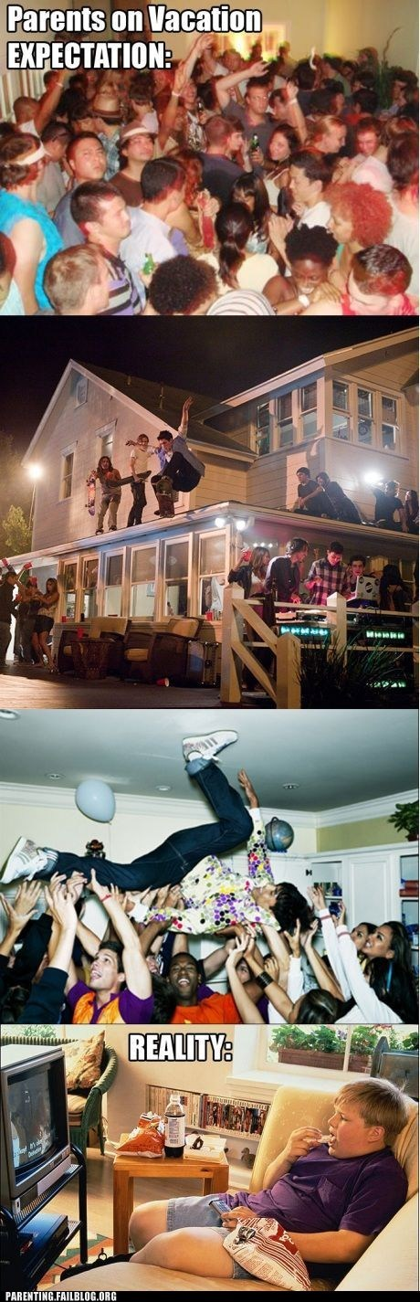 expectation vs reality lazy Party