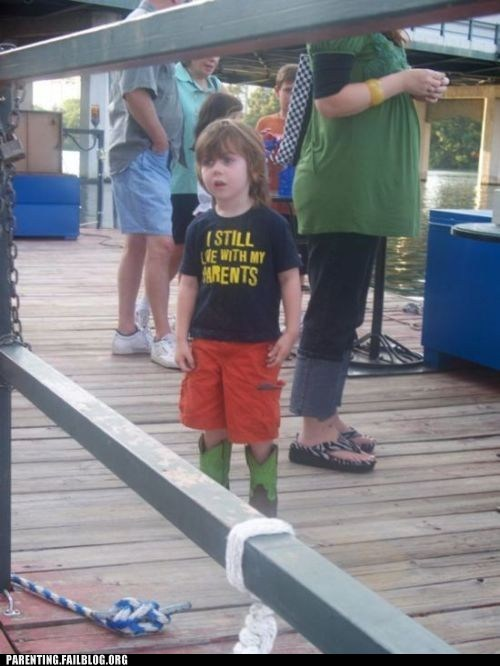 funny shirt kid living with parents - 6122093056