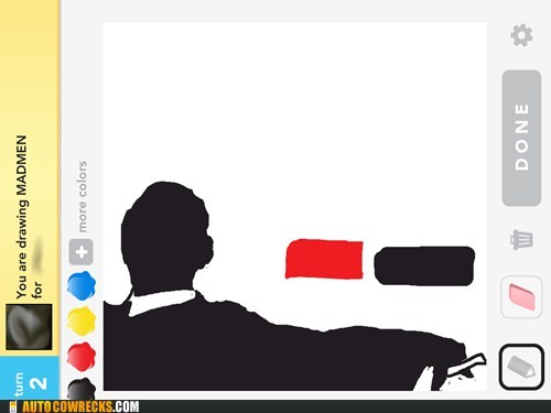 don draper draw something mad men - 6122793984