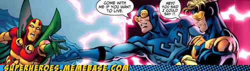 blue beetle booster gold Straight off the Page - 6122803712
