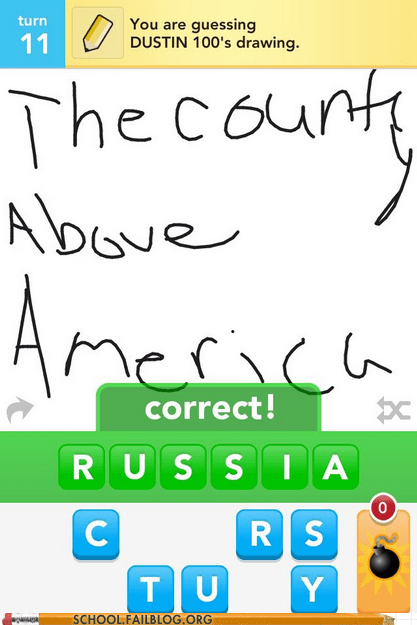 Canada,draw something,geography,russia,the country above america