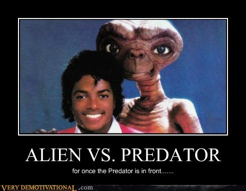 alien hilarious michael jackson vs predator