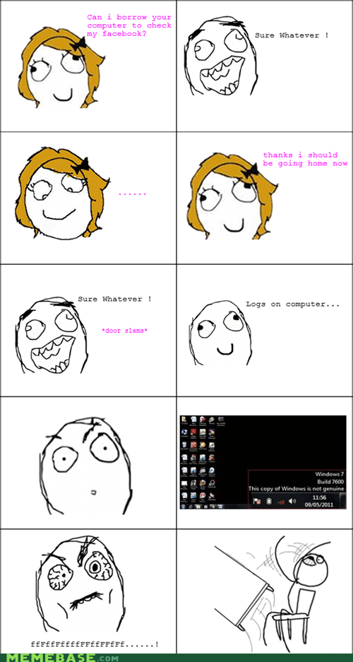 computers genuine Rage Comics table flip windows women