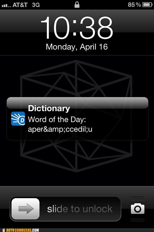 dictionary trolled by my dictionary Word of the Day