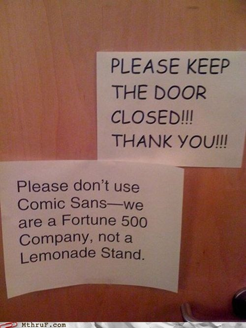 comic sans,fortune 500 company,lemonade stand