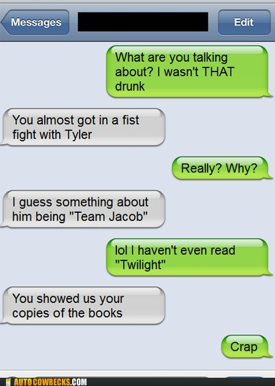 drunk fights iPhones team jacob twilight - 6123980544