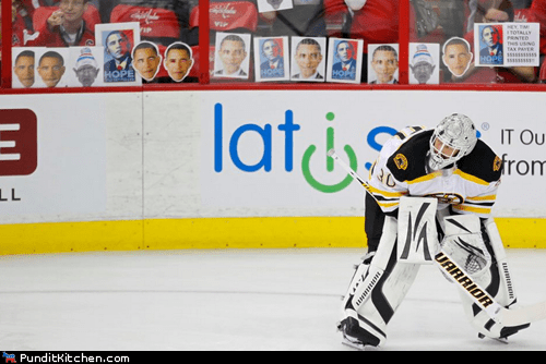 barack obama,bruins,hockey,political pictures,sports,tim thomas