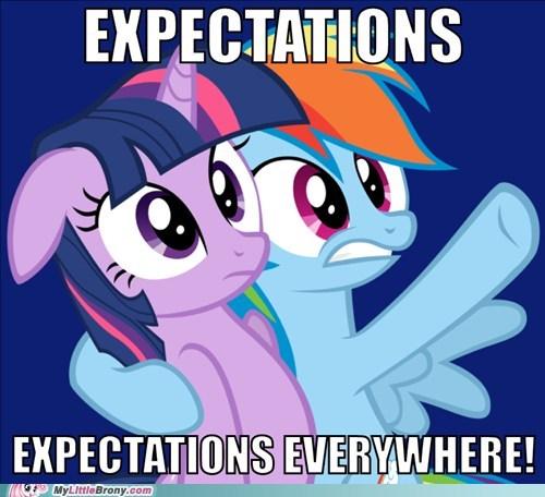 expectations meme rainbow dash twilight sparkle - 6124038144