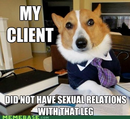 bill clinton,Lawyer Dog,leg,Memes,sex