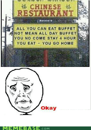 all you can eat buffet chinese Okay restaurant - 6124222720