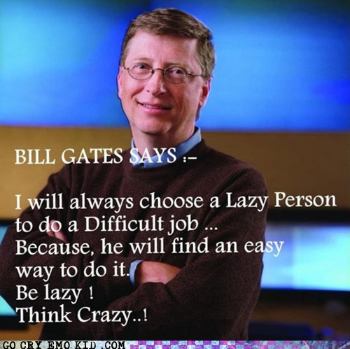 Bill Gates,jobs,laziness,weird kid,work