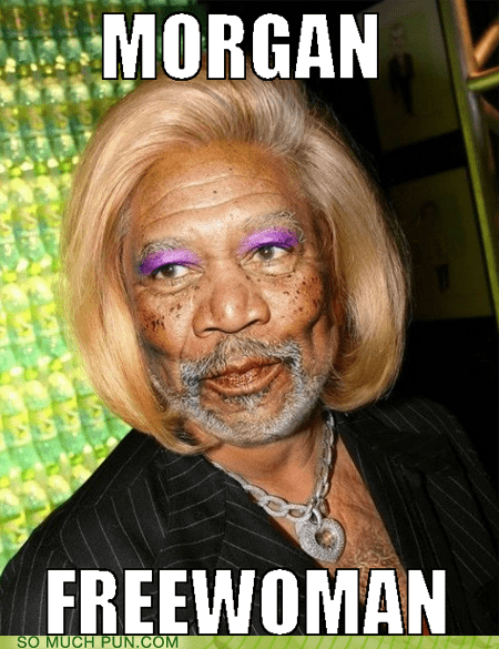 free Hall of Fame lolwut makeup Morgan Freeman suffix surname wig woman - 6124290560