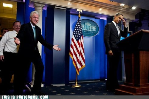 awesome,barack obama,best of week,bill clinton,celeb,Perfect Timing,president