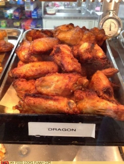 big chicken wings dragon Game of Thrones spicy