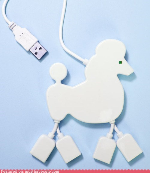 accessories computer cords poodle usb hub - 6124760576