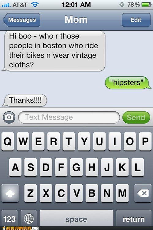 AutocoWrecks fixies g rated hipsters iPhones those vintage clothes - 6124824064