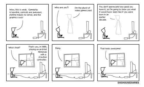 comic,ghost of video games past,NES,nostalgia,sad state of today