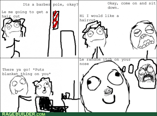 barber shop haircut itch Rage Comics - 6124855808