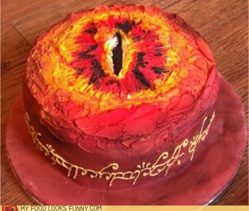 cake,evil,Eye of Sauron,Lord of the Rings