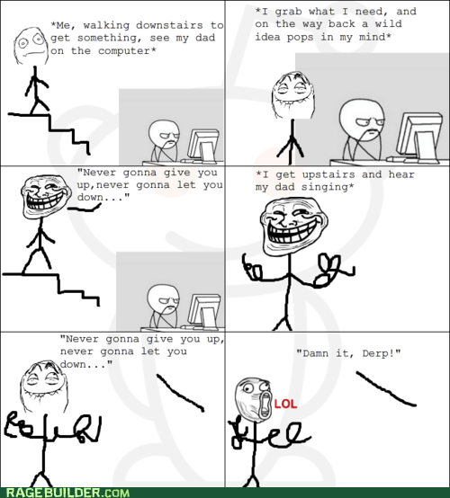 lol,Rage Comics,rick roll,troll