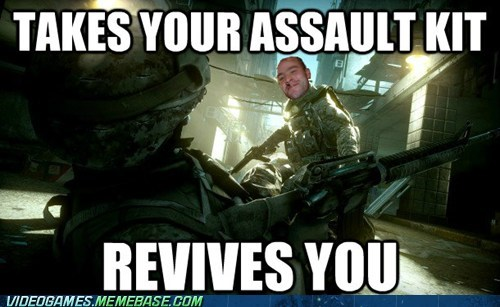 assault kit,Battlefield 3,Good Guy Greg,meme,revive