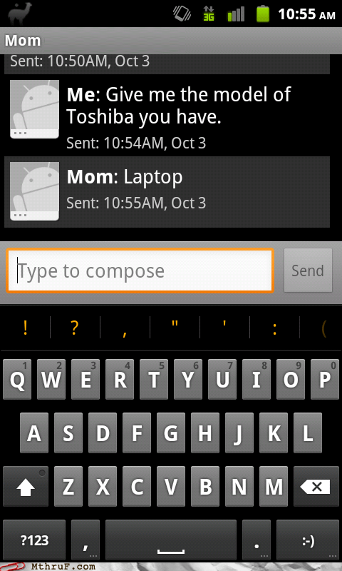 laptop,mom,son,tech support,toshiba