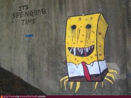 creepy Sponge Bob Squarepants wtf zalgo - 6124942848