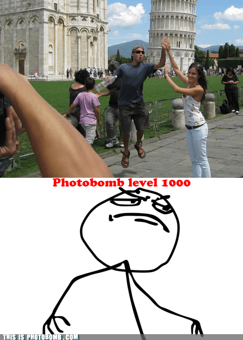 awesome best photobomb high five leaning tower of pisa - 6124952576