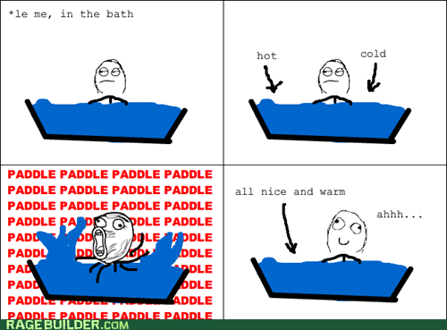 bath lol Rage Comics temperature water - 6124978944