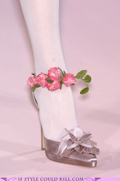 anklets,christian lacroix,crazy shoes,heels,runway