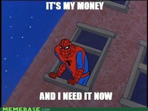 money need it Spider-Man Super-Lols - 6125067776