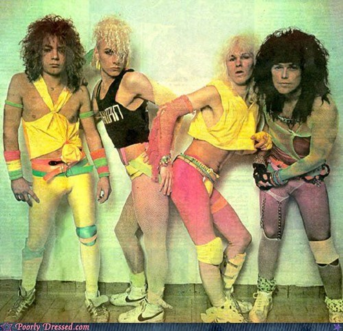 80s hair metal neon spandex