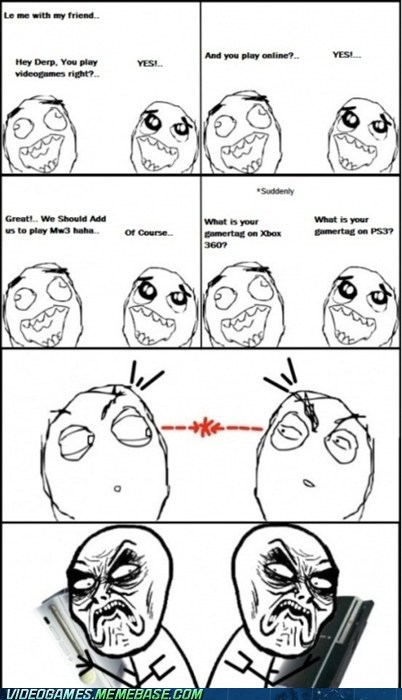 annoying,fanboys,flamewars,ps3,rage comic,the feels,xbox 360